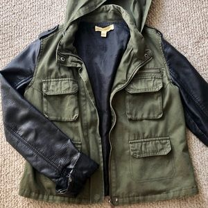 Urban Outfitters Cargo Jacket w/ Leather Sleeves